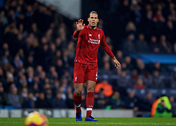 MANCHESTER, ENGLAND - Thursday, January 3, 2019: Liverpool's Virgil van Dijk during the FA Premier League match between Manchester City FC and Liverpool FC at the Etihad Stadium. (Pic by David Rawcliffe/Propaganda)