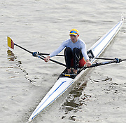 London, Great Britain, 2008 Scullers Head of the River Race,  Tim MALE, raced over the Championship Course, Mortlake to Putney, on the River Thames.   Saturday, 06/12/2008. [Mandatory Credit: ? Peter Spurrier/Intersport Images]. Rowing Course: River Thames, Championship course, Putney to Mortlake 4.25 Miles,