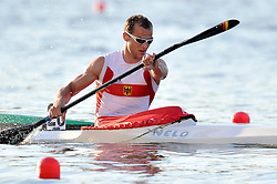 MAX HOFF (GERMANY) COMPETES IN MEN'S K1 5000 METERS FINAL A RACE DURING 2010 ICF KAYAK SPRINT WORLD CHAMPIONSHIPS ON MALTA LAKE IN POZNAN, POLAND...POLAND , POZNAN , AUGUST 21, 2010..( PHOTO BY ADAM NURKIEWICZ / MEDIASPORT ).