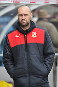 Luke Williams manager of Swindon Town during the Sky Bet League 1 match between Scunthorpe United and Swindon Town at Glanford Park, Scunthorpe, England on 28 March 2016. Photo by Ian Lyall.
