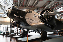 Junkers Ju 52 on display at Deutsches Technikmuseum, German Museum of Technology, in Berlin, Germany