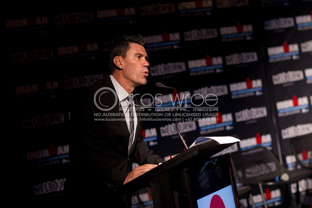 Shane Smith (MD, Business And Operations, Ironman). Ironman Asia-Pacific Championship Melbourne. Official Launch. 2012 Ironman Triathlon World Championship. Encore Restaurant, St Kilda, Melbourne, Victoria, Australia. 17/02/2012. Photo By Lucas Wroe