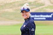 Charley Hull is all smiles before her round at the Aberdeen Standard Investments Ladies Scottish Open 2018 at Gullane Golf Club, Gullane, Scotland on 28 July 2018. Picture by Kevin Murray.