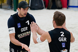 Eric Koreng (L) and David Klemperer of Germany at CEV European Continental Beach Volleyball Cup for Olympic Qualification, on September 4, 2010, in Zrece, Slovenia. (Photo by Matic Klansek Velej / Sportida)