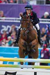 Zara Phillips on her horse High Kingdom at  the show jumping event at the London 2012 Olympics , Tuesday 31st July 2012 Photo by: i-Images