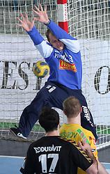 Golkeeper Aljosa Rezar during the 1st round of EHL Champions League match between RK Celje Pivovarna Lasko (SLO) and Rhein Neckar Lowen (GER), on February 14, 2009, in Arena Zlatorog, Celje, Slovenia. Rhein Neckar Lowen won 34:28.  (Photo by Vid Ponikvar / Sportida)