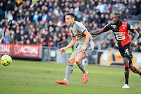 Lucas OCAMPOS - 07.02.2015 - Rennes / Marseille - 24eme journee de Ligue 1<br /> Photo : Gaston Petrelli / Icon Sport