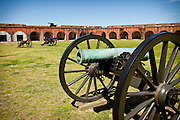 Canons inside Fort Pulaski National Monument Savannah, GA.