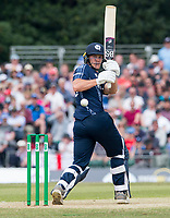 EDINBURGH, SCOTLAND - JUNE 10: Scotland's George Munsey on his way to a fine 55 during the first innings of the one-off ODI at the Grange Cricket Club on June 10, 2018 in Edinburgh, Scotland. (Photo by MB Media/Getty Images)