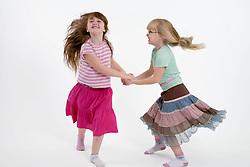 Little girls dancing,