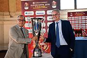 sponsor<br /> presentazioe supercoppa 2018<br /> Legabasket Serie A 2018/19<br /> Brescia, 24/09/2018<br /> Ciamillo-Castoria