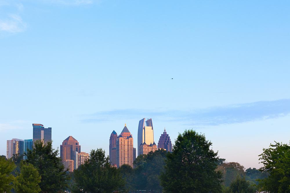 Midtown city skyline from Piedmont Park, Atlanta, Georgia, USA