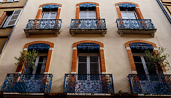 Typical French architecture in the Carmes district in the old town of Toulouse, FRance<br /> <br /> (c) Andrew Wilson | Edinburgh Elite media