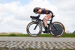 Amy Pieters (NED) at Healthy Ageing Tour 2019 - Stage 4A, a 14.4km individual time trial starting and finishing in Winsum, Netherlands on April 13, 2019. Photo by Sean Robinson/velofocus.com