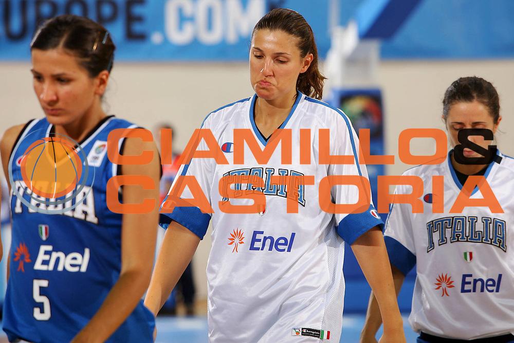 DESCRIZIONE : Ortona Italy Italia Eurobasket Women 2007 Bielorussia Italia Belarus Italy <br /> GIOCATORE : Federica Ciampoli <br /> SQUADRA : Nazionale Italia Donne Femminile <br /> EVENTO : Eurobasket Women 2007 Campionati Europei Donne 2007 <br /> GARA : Bielorussia Italia Belarus Italy <br /> DATA : 03/10/2007 <br /> CATEGORIA : Delusione <br /> SPORT : Pallacanestro <br /> AUTORE : Agenzia Ciamillo-Castoria/S.Silvestri <br /> Galleria : Eurobasket Women 2007 <br /> Fotonotizia : Ortona Italy Italia Eurobasket Women 2007 Bielorussia Italia Belarus Italy <br /> Predefinita :