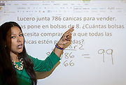 Carla Corona teaches fourth grade at Sutton Elementary School, April 27, 2015.