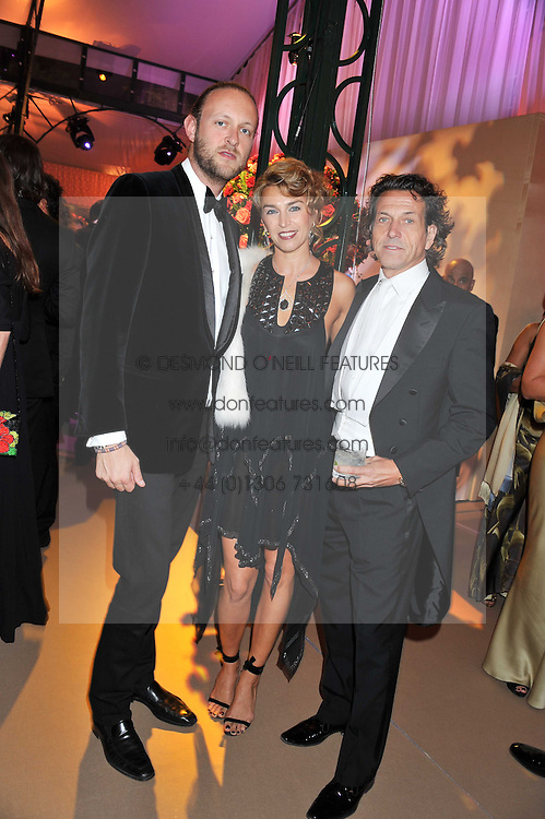 Left to right, LORD EDWARD SPENCER-CHURCHILL and STEPHEN & ASSIA WEBSTER at the Raisa Gorbachev Foundation Gala held at the Stud House, Hampton Court, Surrey on 22nd September 22 2011