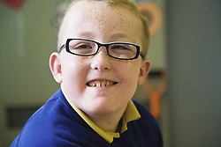 Pupil with physical disability in a special school,