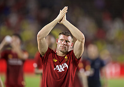 SOUTH BEND, INDIANA, USA - Friday, July 19, 2019: Liverpool's James Milner applauds supporters after a friendly match between Liverpool FC and Borussia Dortmund at the Notre Dame Stadium on day four of the club's pre-season tour of America. Dortmund won 3-2. (Pic by David Rawcliffe/Propaganda)