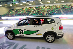 Official car during ice-hockey match between HDD Tilia Olimpija and EHC Liwest Black Wings Linz at second match in Semifinal  of EBEL league, on March 8, 2012 at Hala Tivoli, Ljubljana, Slovenia. (Photo By Matic Klansek Velej / Sportida)