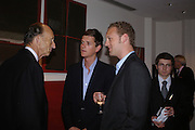 David Metcalfe, Lord Alexander Spencer-Churchill and Lord Edward Spencer-Churchill. 'The Road to Abtsraction' an exhibition of paintings by Rosita Marlborough. the Fleming Collection. 13 Berkeley St. London W1. 31 March 2005. ONE TIME USE ONLY - DO NOT ARCHIVE  © Copyright Photograph by Dafydd Jones 66 Stockwell Park Rd. London SW9 0DA Tel 020 7733 0108 www.dafjones.com