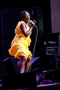 Sharon Jones & the Dap Kings perform during the Summer Spirit Festival at Merriweather Post Pavilion on Saturday, August 4, 2012 in Columbia, MD.