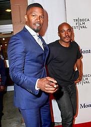 Jamie Foxx and Jacques Morel are seen attending Storytellers: Jamie Foxx during the 2018 Tribeca Film Festival at BMCC Tribeca PAC in New York City. NON-EXCLUSIVE April 23, 2018. 23 Apr 2018 Pictured: Jamie Foxx,Jacques Morel. Photo credit: Nancy Rivera/Bauergriffin.com / MEGA TheMegaAgency.com +1 888 505 6342