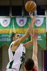 Nemanja Aleksandrov (12) of Olimpija at basketball match of 4th Round of NLB League between KK Union Olimpija and KK Crvena zvezda,  on October 24, 2009, Arena Tivoli, Ljubljana, Slovenia.  Union Olimpija won 94:76.  (Photo by Vid Ponikvar / Sportida)