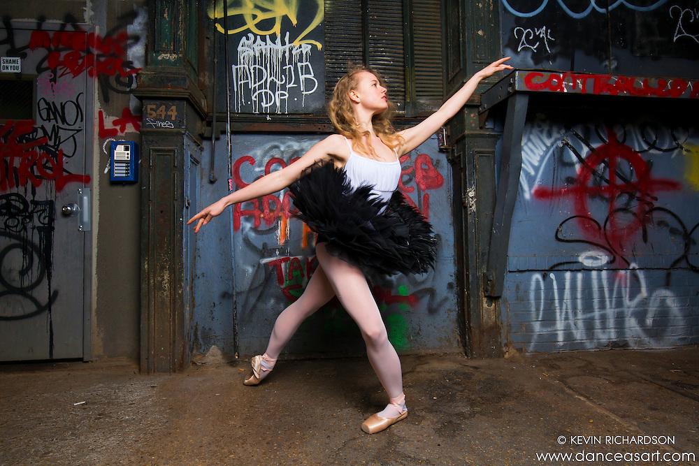 Ballerina Sigrid Glatz Cortlandt Alley Graffiti- Dance As Art The New York Photography Project