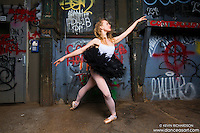 Ballerina Sigrid Glatz Cortlandt Alley Graffiti- Dance As Art The New York Photography Project