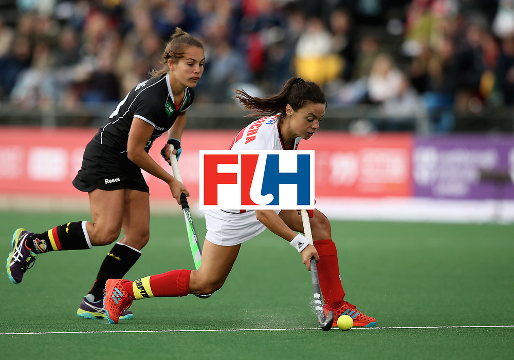 JOHANNESBURG, SOUTH AFRICA - JULY 8: Marlena Rybacha of Poland in action during the pool A match between Germany and Poland on day one of the FIH Hockey World League Semi-Final at Wits University on July 8, 2017 in Johannesburg, South Africa. (Photo by Jan Kruger/Getty Images for FIH)
