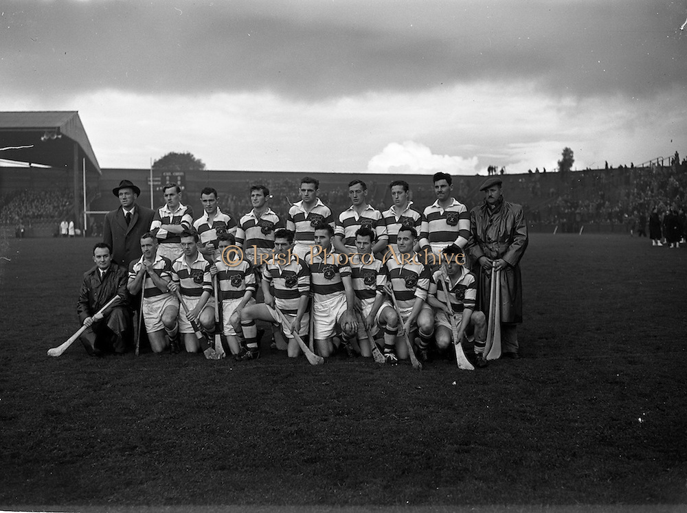 20/10/1957<br /> 10/20/1957<br /> 20 October 1957<br /> Oireachtas Final: Kilkenny v Waterford at Croke Park, Dublin. Waterford Team.