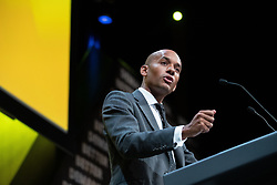© Licensed to London News Pictures . 15/09/2019. Bournemouth, UK. CHUKA UMUNNA speaks during a debate and vote to pass a motion to revoke article 50 should they form the next government. The Liberal Democrat Party Conference at the Bournemouth International Centre . Photo credit: Joel Goodman/LNP