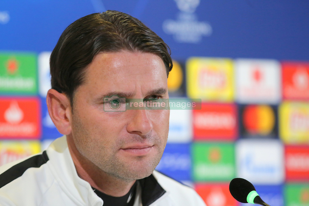 October 1, 2018 - Turin, Piedmont, Italy - Gerardo Seoane, head coach of Berner Sport Club Young Boys during the press conference on the eve of the UEFA Champions League match between Juventus FC and  Berner Sport Club Young Boys at Allianz Stadium on October 01l, 2018 in Turin, Italy. (Credit Image: © Massimiliano Ferraro/NurPhoto/ZUMA Press)