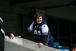 A Millwall fan in the stands before kick off - Mandatory by-line: Arron Gent/JMP - 05/10/2019 - FOOTBALL - The Den - London, England - Millwall v Leeds United - Sky Bet Championship