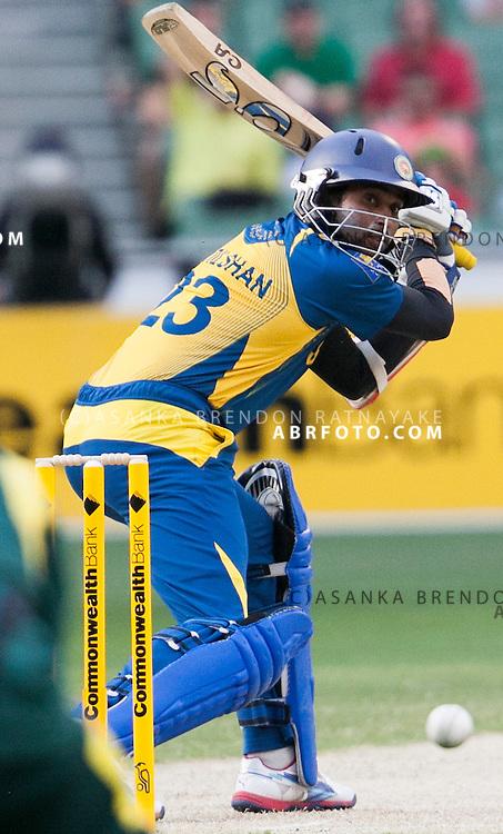 tillakaratne dilshan batting during game 1 of the Commonwealth Bank Series Australia v Sri Lanka played at the Melbourne Cricket Ground in Melbourne,Victoria, Australia. Photo Asanka Brendon Ratnayake