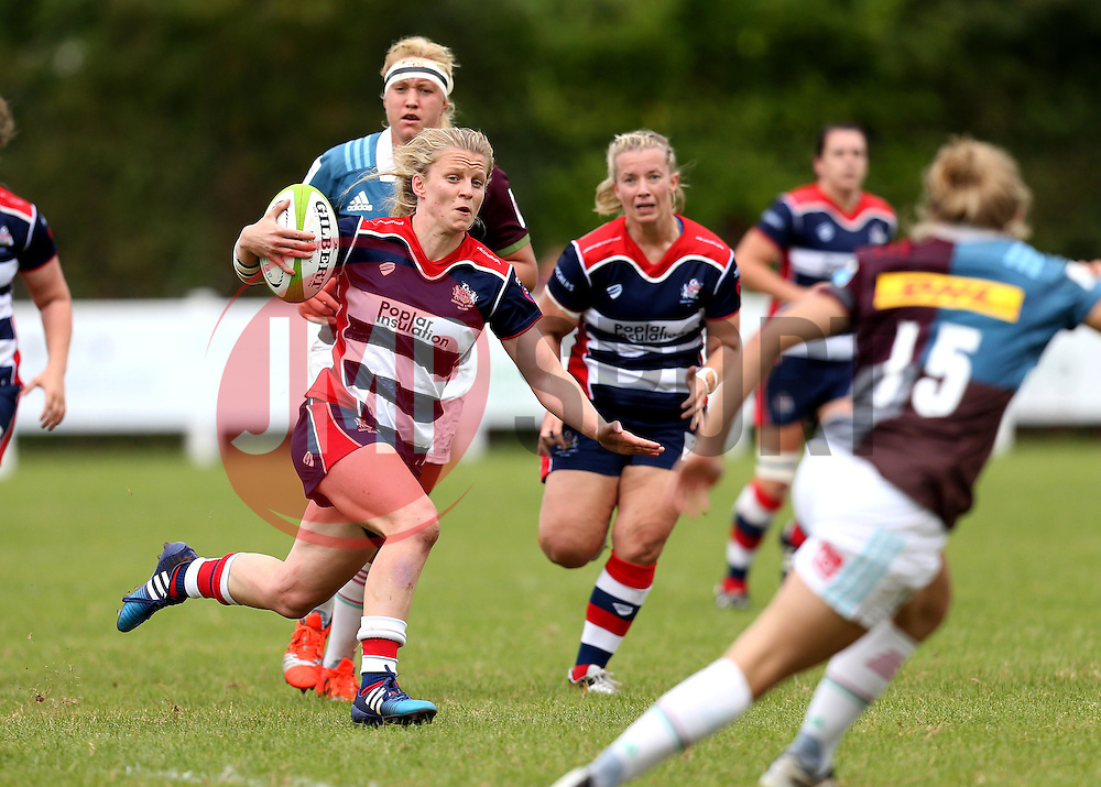 Claire Molloy of Bristol Ladies runs with the ball - Mandatory by-line: Robbie Stephenson/JMP - 18/09/2016 - RUGBY - Cleve RFC - Bristol, England - Bristol Ladies Rugby v Aylesford Bulls Ladies - RFU Women's Premiership