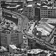 Sopraelevata del porto Antico di Genova, veduta panoramica della città 22/06/17