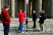 Berlin: tourists in Charlottenburg..