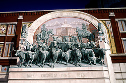 Texas: Fort Worth, R. Hass Chisolm Trail Mural, photo: txfort101  .Photo copyright Lee Foster, www.fostertravel.com, 510/549-2202, lee@fostertravel.com