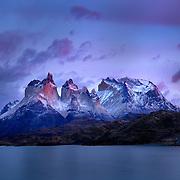 Sunrise in Torres del Paine, Chilean Patagonia - 14 x 11