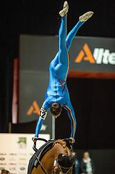 Thomas Brusewitz, (GER), Airbus 1, Irina Lenkeit - Individuals Men Compulsory Vaulting - Alltech FEI World Equestrian Games™ 2014 - Normandy, France.<br /> © Hippo Foto Team - Jon Stroud<br /> 02/09/2014