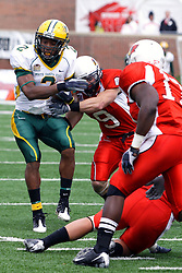 25 October 2008: Tom Nelson tangles with Pat Paschall in a game which the North Dakota Bison defeated the Illinois State Redbirds at Hancock Stadium on campus of Illinois State University in Normal Illinois