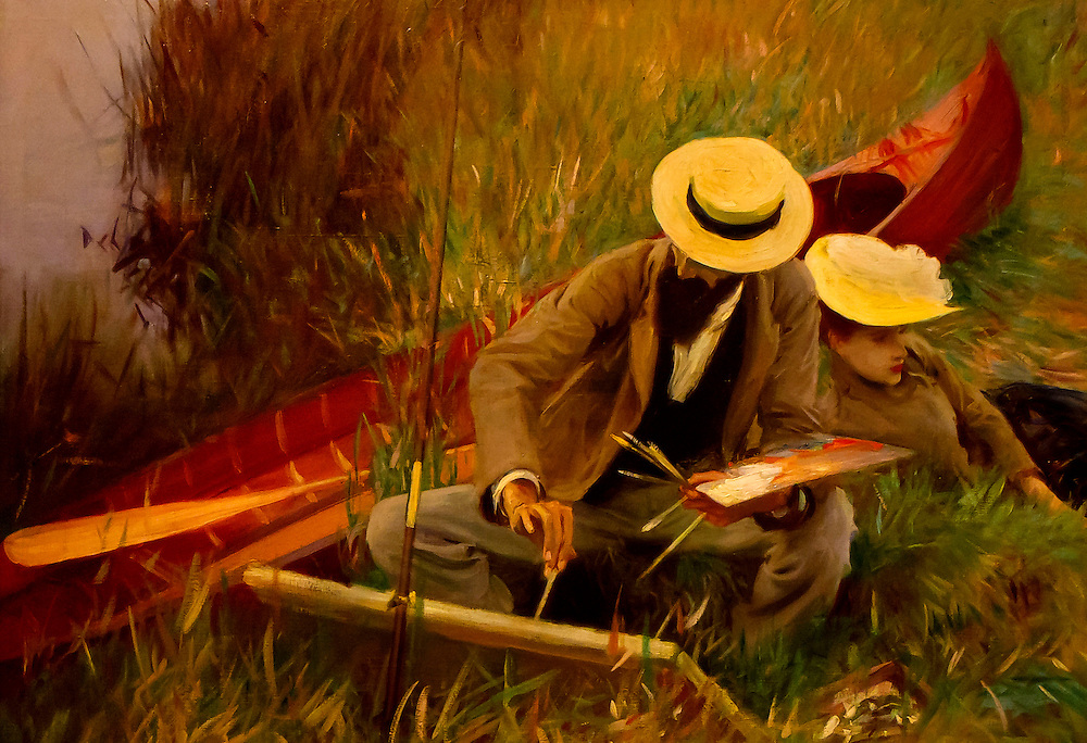 """""""An Outdoors Study"""", a painting by John Sargent. Brooklyn Museum."""
