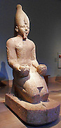 Kneeling statue of Queen Hatshepsut. 18th Dynasty, Egyptian Pharaoh. Reigned 1473-1458BC. Granite from Thebes
