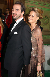 PRINCE NICKOLAS OF GREECE and close friend TATIANNA BLACKNICK at the NSPCC's Dream Auction held at The Royal Albert Hall, London on 9th May 2006.<br />