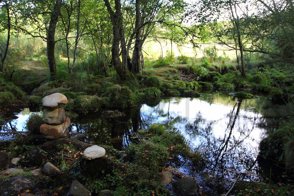 River hideaways in Serra da Cabreira. European Rainbow Gathering of 2011 in Portugal