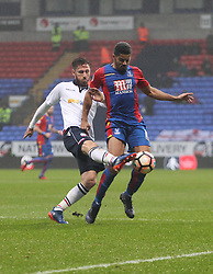 Mark Beevers of Bolton Wanderers (L) and Ezekiel Fryers of Crystal Palace in action - Mandatory by-line: Jack Phillips/JMP - 07/01/2017 - FOOTBALL - Macron Stadium - Bolton, England - Bolton Wanderers v Crystal Palace - FA Cup Third Round