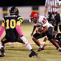 Thomas Wells   Buy at PHOTOS.DJOURNAL.COM<br /> Corinth's Chris Kelly and the Warriiors had a rough night against Itawamba as they went down 24-14 on Friday.