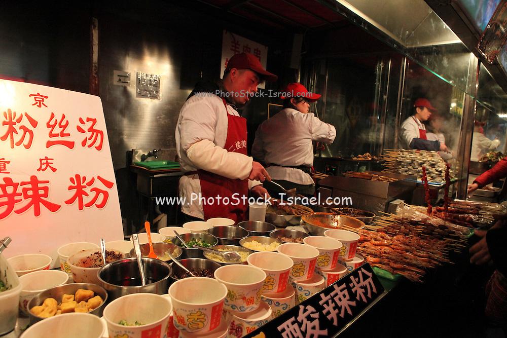 China, Beijing, Dong Hua Men, Night Street food Market